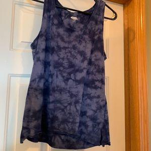 Blue tie dye tank top
